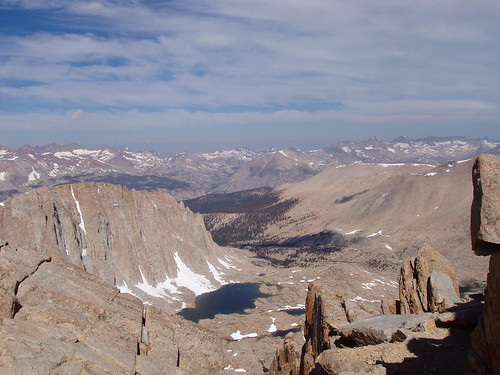 The Hitchcock Lakes from Trail Crest.
