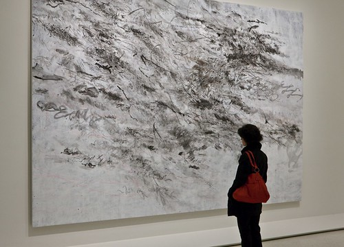Installation View of Julie Mehretu: Grey Area by Solomon R. Guggenheim Museum