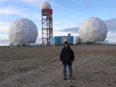 DEW Line radar site in the Arctic
