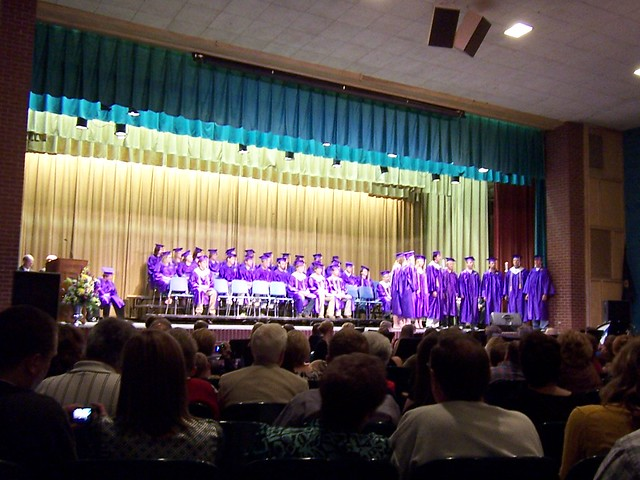the senior singers performing