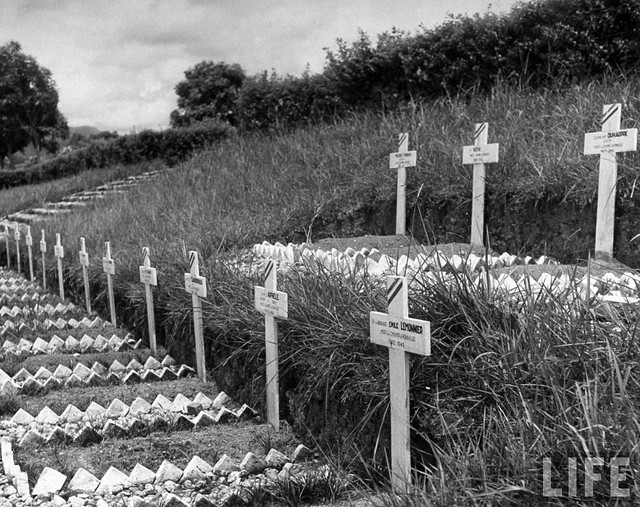 1948 - Memorial burial site of 600 French soldiers, dying at the hands of the Japanese soldiers, in French Indo China.