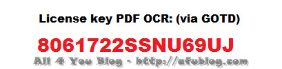 PDF OCR license key via GOTD