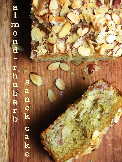 almond-rhubarb snack cake | awhiskandaspoon.com/ | By: awhiskandaspoon ...