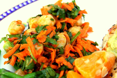 Spicy Chickpea Carrot Salad