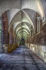 symmetry, arch, building, architecture, vault, aisle, arcade,