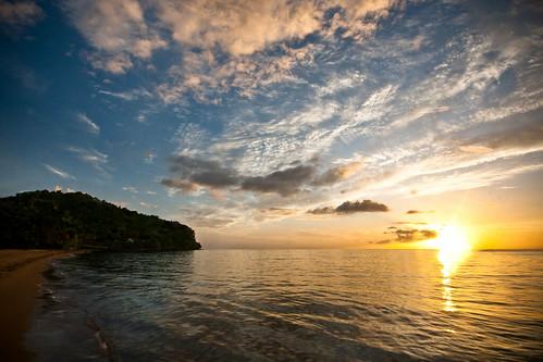 sunset caribbean dominica caribbeansea