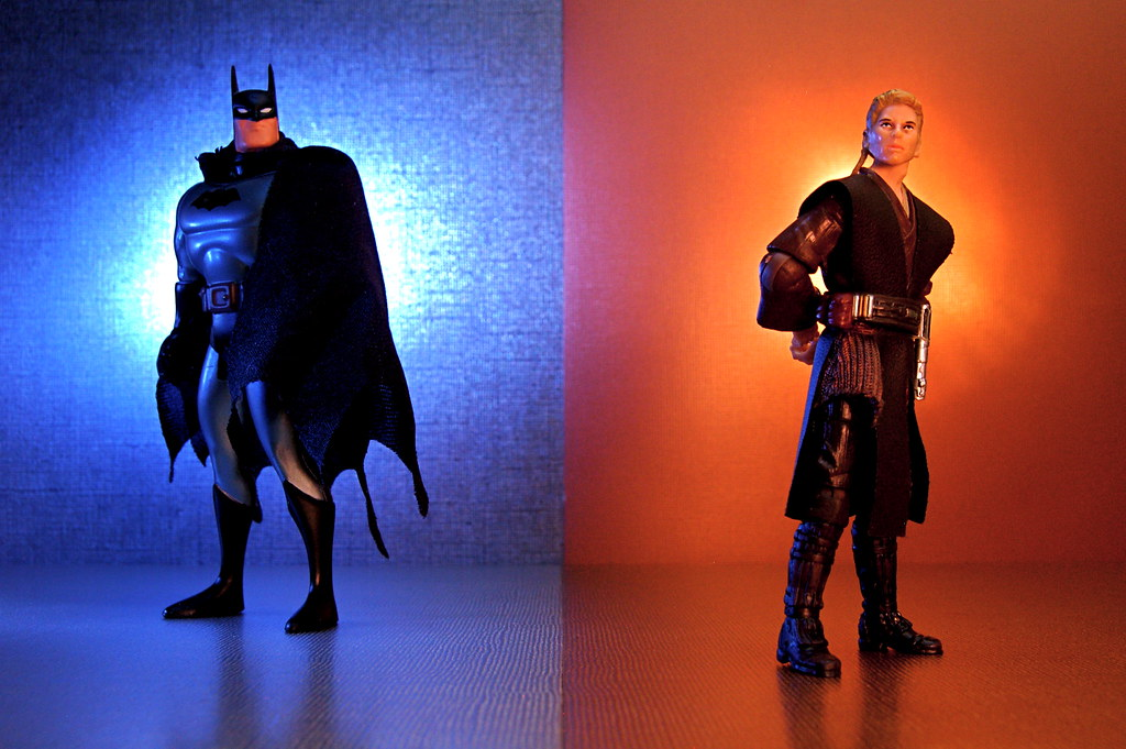 """The Bat-Man"" vs. Padawan Anakin Skywalker (286/365)"