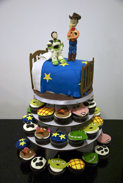 Bc4089 Toy Story Cupcake Tower Cake Flickr Photo