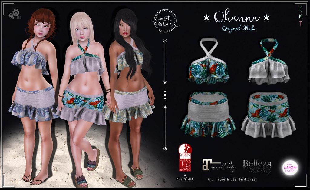 Ohanna Outfit Pack #1 - Sweet Lies Original - SecondLifeHub.com