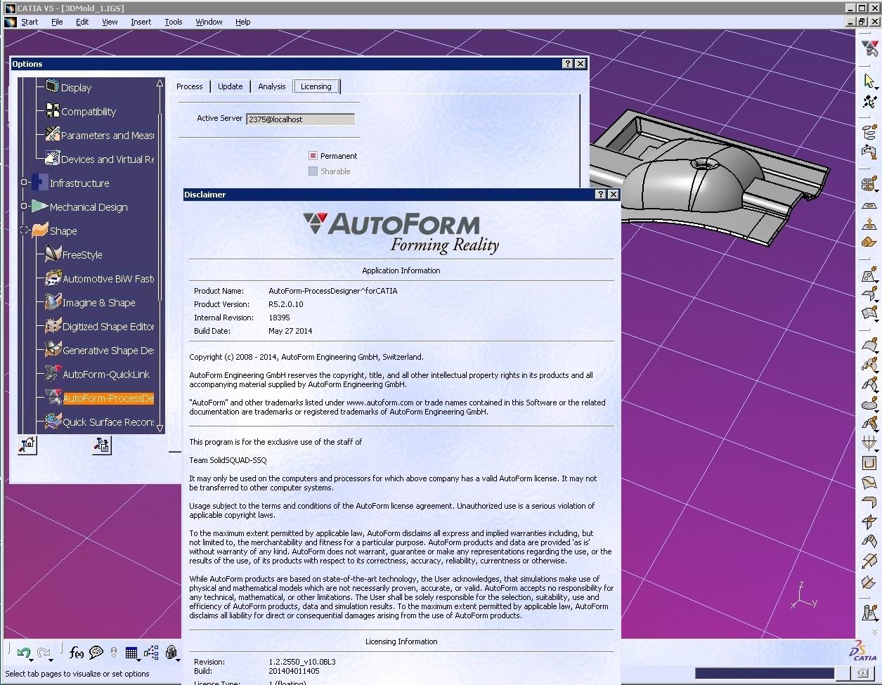 AutoForm^Plus R5.2.0.11 with catia full license