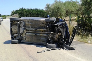 Noicattaro. Incidente S.P. 117 front