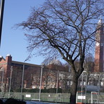 University of Birmingham - South Gate - tennis courts, Chamberlain Clock Tower and the Great Hall