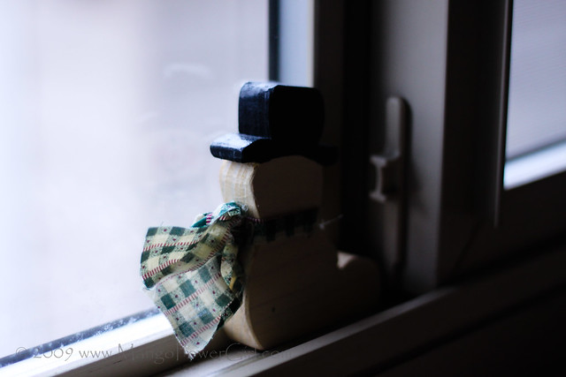 snowman in the window