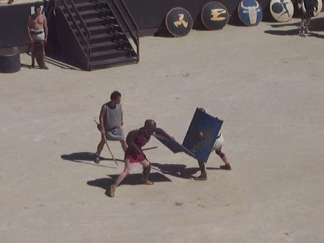 Demonstration of Gladiator fight in the Orange Theatre