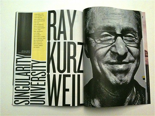 Wired article: Ray Kurzweil,  Singularity University