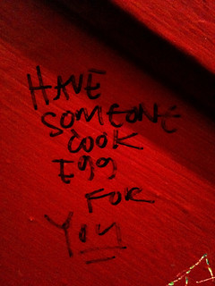 Bathroom Graffiti: How to Cook an Egg