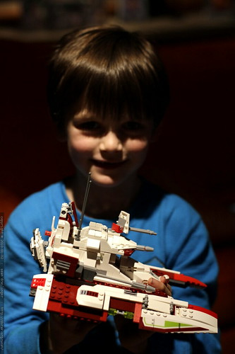 nick finished building the star wars republic fighter tank lego kit