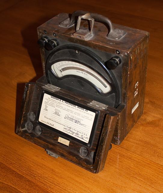 Antique Volt Meter : Antique voltmeter flickr photo sharing