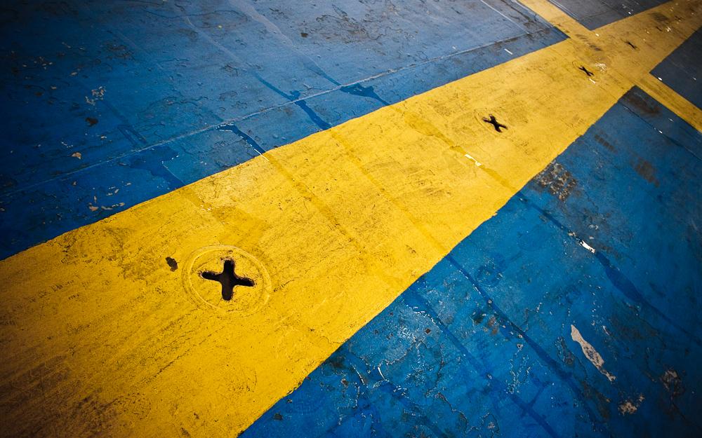 Schweden in einer griechischen Fähre?