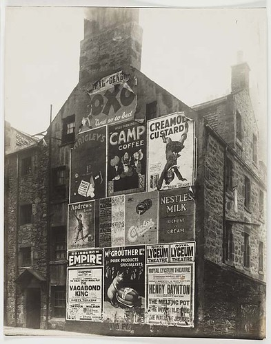 Gifford Park, Edinburgh with large adverts