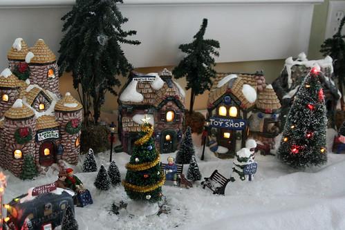 painted christmas village - Christmas Ceramics