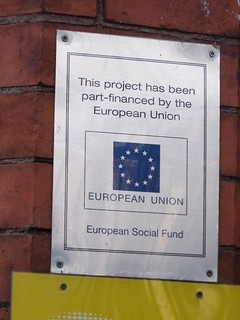Albert Hall, Witton Road, Aston - European Union sign