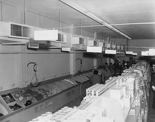 Fort Lewis, WA Commissary interor 2 January 1953