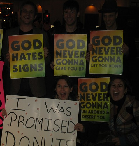 rick rolling the westboro baptist church