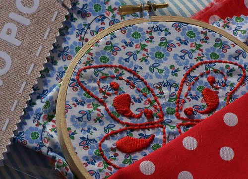 Chamando a Primavera... Butterfly embroidery kit
