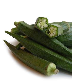 Okra, oker of Lady's Fingers