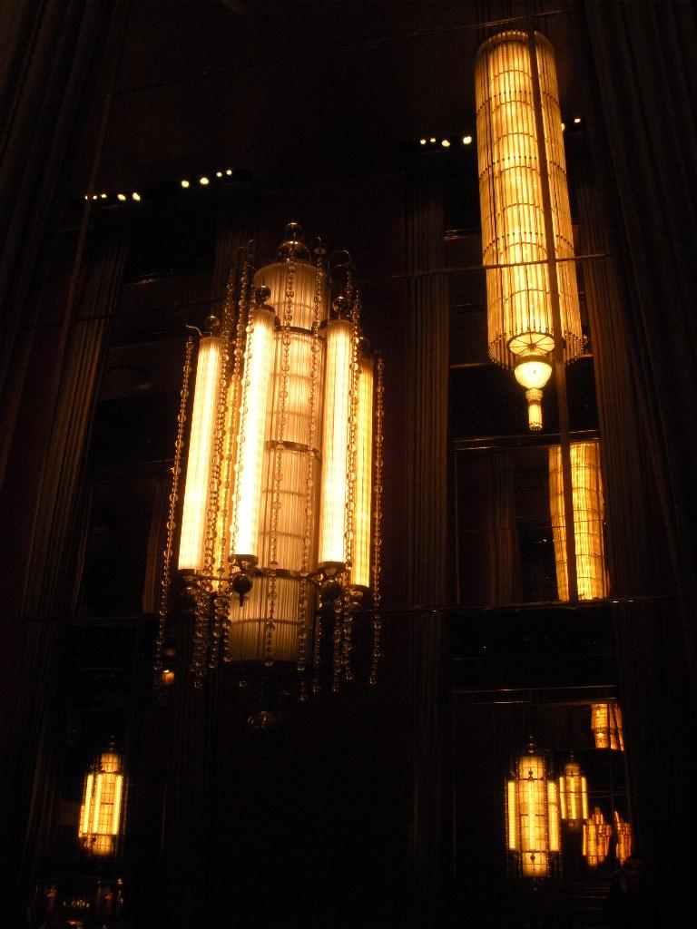 Radio City Music Hall NYC Lighting Sconces Lobby Vintage 1930s
