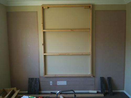 False Wall Designs For Tv : View topic false wall to hang tv off home renovation
