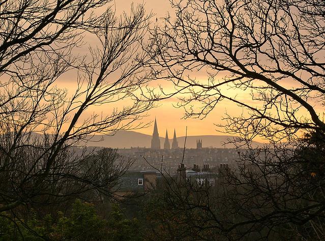 Sunset over Edinburgh #1