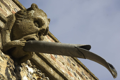 Gargoyle on Haughley church, Suffolk