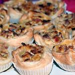 blätterteig-muffins mit spargel & schinken