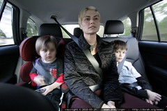 rachel and the boys enroute to a restaurant with jack