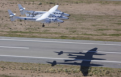 VSS Enterprise First Flight, Landing. Photo by Mark Greenberg