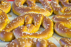 produce(0.0), baking(1.0), baked goods(1.0), food(1.0), dish(1.0), dessert(1.0), cuisine(1.0), snack food(1.0), pretzel(1.0), danish pastry(1.0),