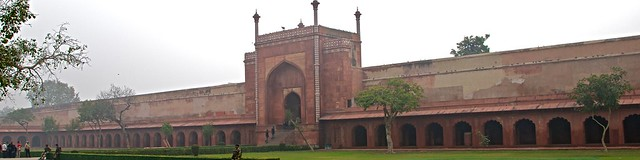 Long Building with Arches - Taj Mahal