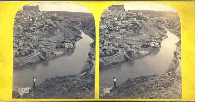 Vista estereoscópica de Toledo hacia 1860 por Lamy ?