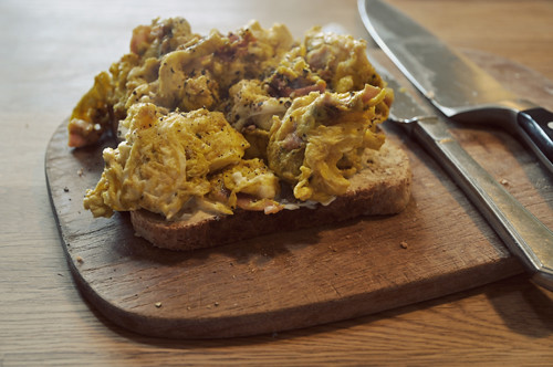 curry scrambled eggs for breakfast | Flickr - Photo Sharing!