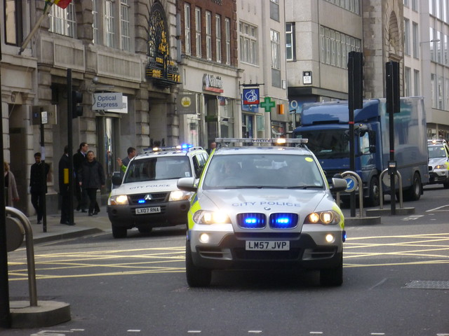 City of London Police in action