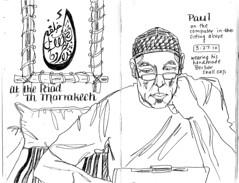 Paul on the laptop, Marrakech by Julie Johnson Art