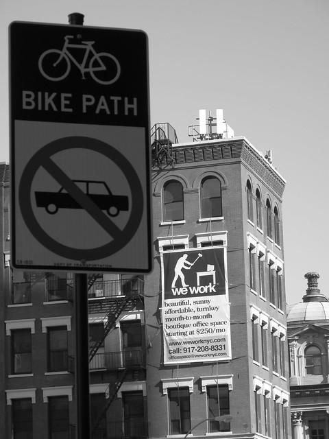 We work, bike path