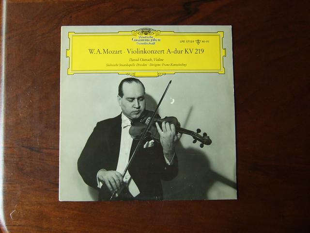 Mozart - Violin Concerto KV219 - David Oistrakh, Sachsische Staatskapelle Dresden, Franz Konwitschny, DGG LPE17159 10 inch