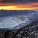 Sunset over Badwater Basin from Dante's View, Death Valley