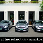 Three brand-new Mercedes Benz S-Class Limousines at the Sukhothai Hotel in Thailand - one of the best hotels in Asia! Absolutely WOW! A must for Mercedes Benz fans! ( July 2009 ).