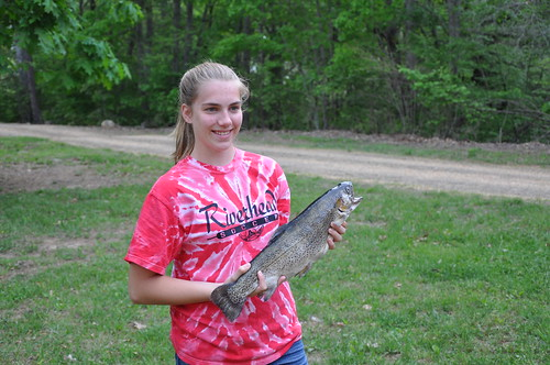 Katelyn's first trout | by bigpinetroutfarm@gmail.com
