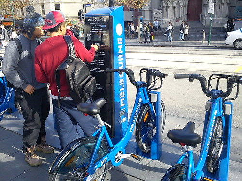 Melbourne Bike Share - first day