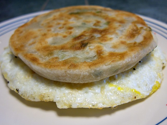 Scallion Pancake & Fried Egg Sandwich | Explore beautifulcat ...